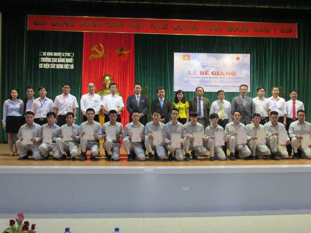 Lễ bế giảng Khóa 1, ngành Điện lạnh tại trường cao đẳng nghề Việt Xô, Ninh Bình