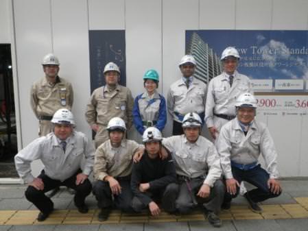 Hình ảnh các Thực tập sinh Nibelc tại các công trình xây dựng ở Tokyo