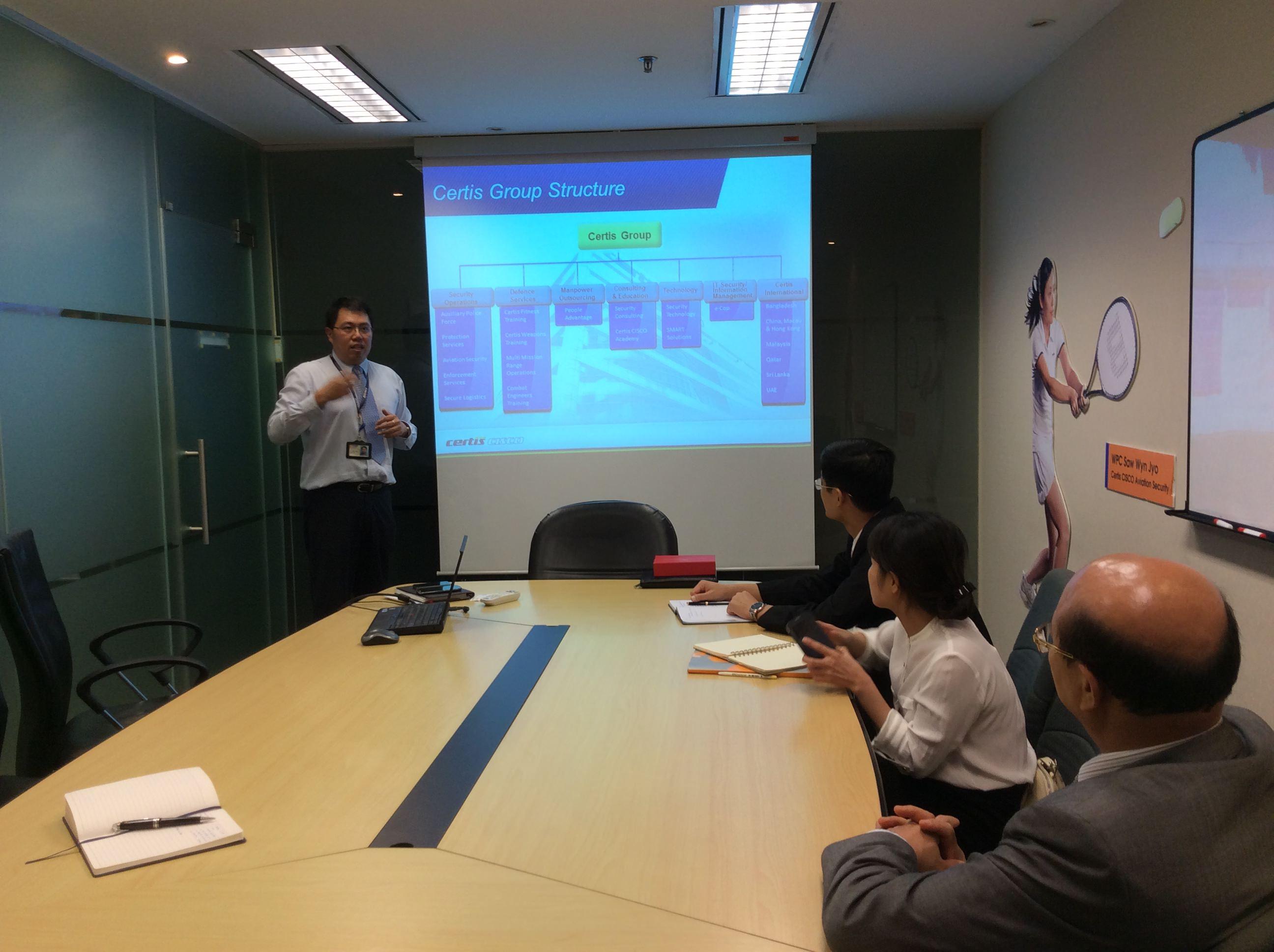 VGSC - Công ty thành viên của NIBELC- thăm và làm việc với Tập đoàn Certis Cisco Singapore