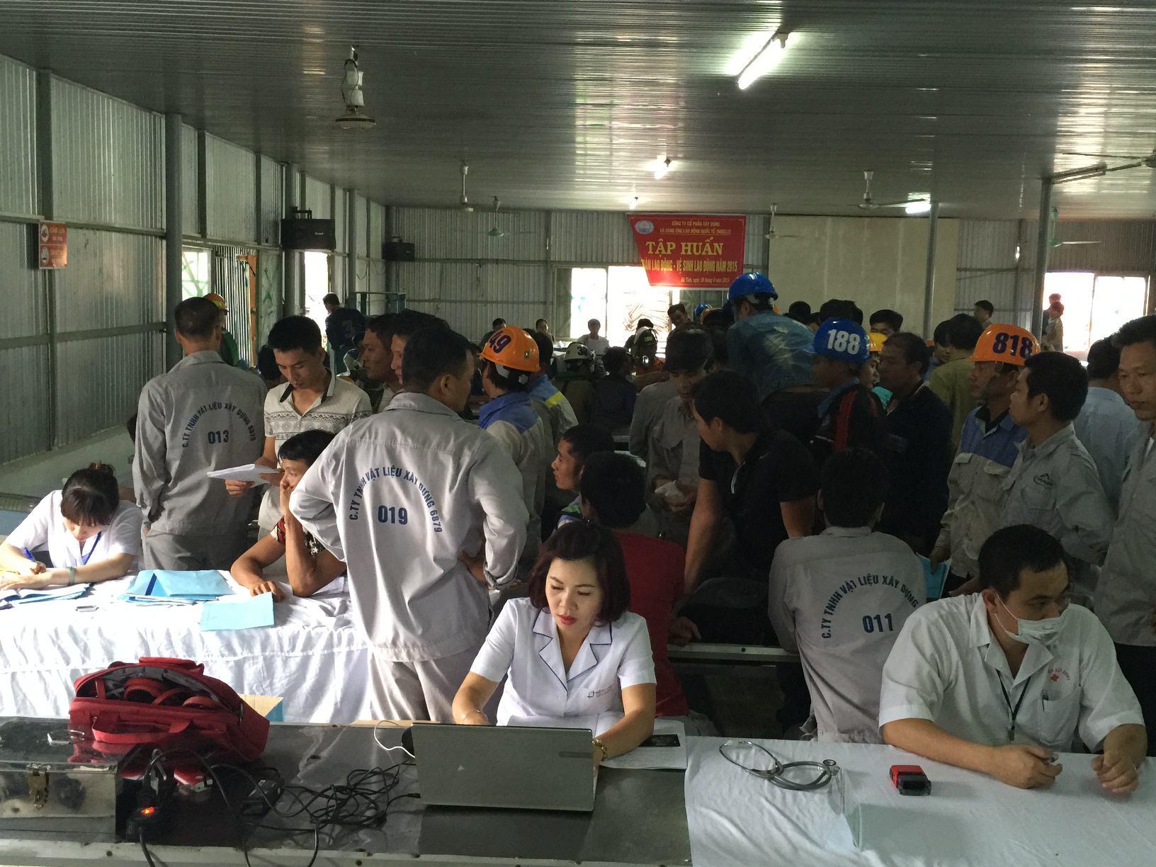 NIBELC tổ chức khám sức khỏe định kỳ cho CBCNV Công ty và Dự án Cảng Sơn Dương