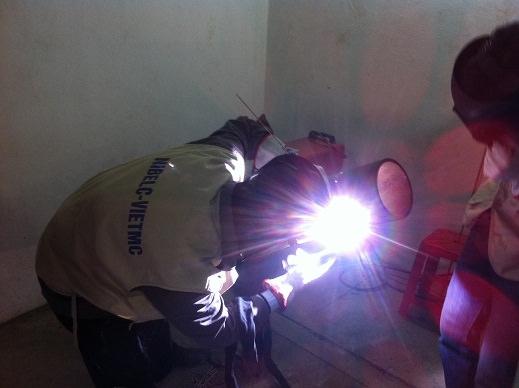 Hình ảnh thi tuyển thợ hàn 6G và cơ khí cho GS-IWI