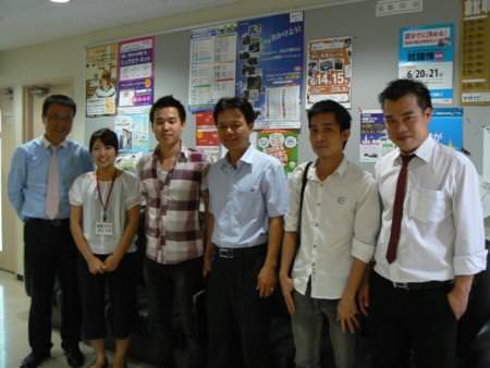 Lãnh đạo công ty NIBELC thăm TNS và sinh viên tại Nhật Bản
